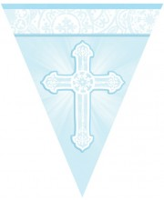 BANDERIN PRIMERA COMUNION AZUL