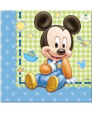 SERVILLETAS BABY MICKEY 20 UNIDADES