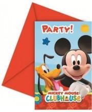 INVITACIONES MICKEY PLAYFUL 6 UNIDADES C/SOBRE