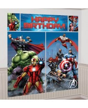 DECO PARED AVENGERS HAPPY BIRTHDAY
