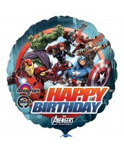GLOBO DE HELIO AVENGERS HAPPY BIRTHDAY