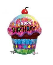 GLOBO DE HELIO CUPCAKE HAPPY BIRTHDAY
