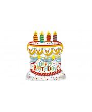 GLOBO DE HELIO HAPPY BIRTHDAY CON VELAS