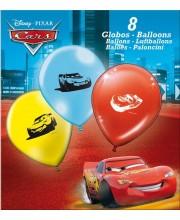 GLOBOS CARS 8 UNIDADES