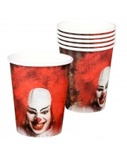 VASOS PAYASO HORROR 25 CL
