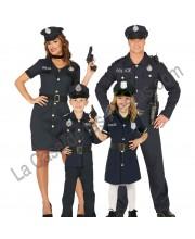 DISFRACES EN GRUPO POLICIAS AZULES