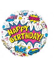 GLOBO DE HELIO HAPPY BIRTHDAY SUPERHEROES COMIC