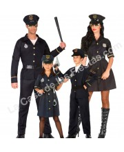 DISFRACES EN GRUPO POLICIAS NEGROS