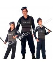 DISFRACES EN GRUPO POLICIA GORRA