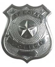 PLACA DE POLICIA METAL
