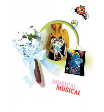 RAMO NOVIA MUSICAL TUL FOSFORESCENTE
