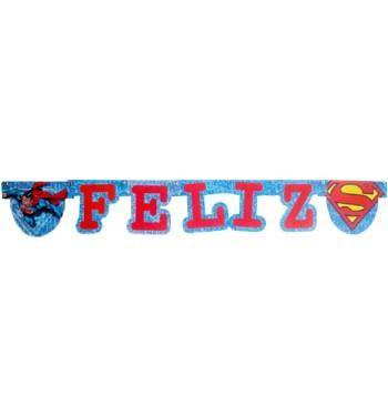 GUIRNALDA SUPERMAN FELIZ CUMPLE