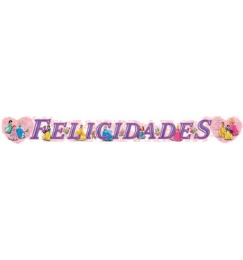 GUIRNALDA FELICIDADES PRINCESAS FLORES