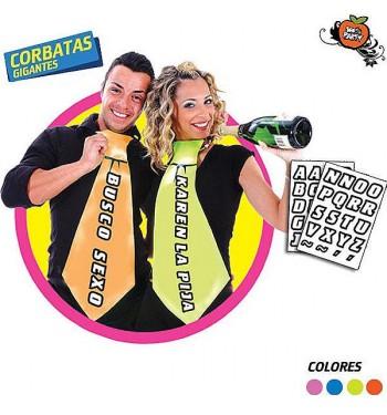 CORBATA GIGANTE PERSONALIZADA 2 COLORES
