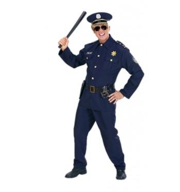 DISFRAZ DE POLICIA AZUL ADULTO