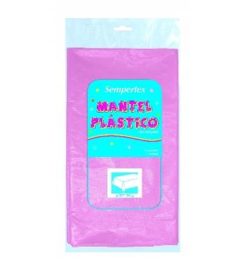 MANTEL ROSA PASTEL DE PLASTICO