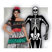 Disfraces de Catrina y Esqueletos