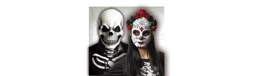 Máscaras de Esqueletos y Catrina