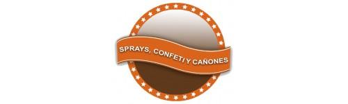 Sprays, Confetti Y Cañones
